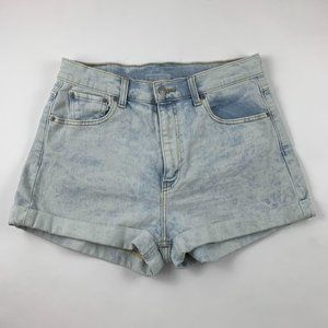 Levi's Acid Wash High Rise Mom Shorts 31